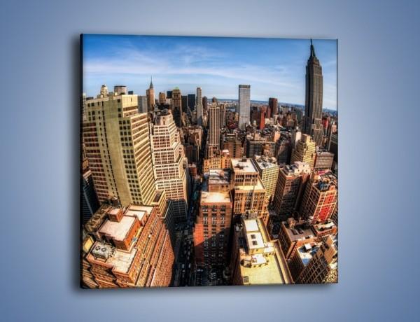 Obraz na płótnie – Drapacze chmur Nowego Jorku – jednoczęściowy kwadratowy AM599