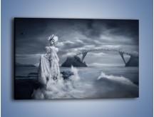 Obraz na płótnie – Dama w sepii – jednoczęściowy prostokątny poziomy L292