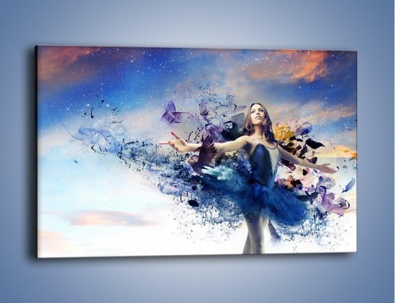 Obraz na płótnie – Balet w kobiecym wydaniu – jednoczęściowy prostokątny poziomy L328