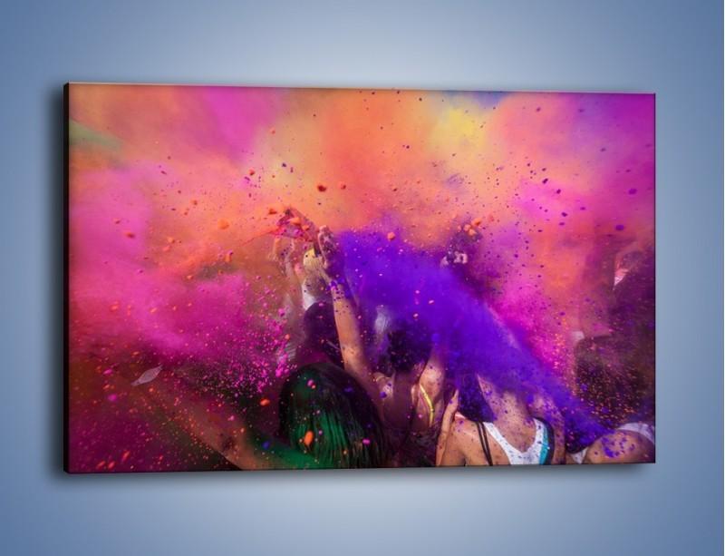 Obraz na płótnie – Burza kolorowego piachu – jednoczęściowy prostokątny poziomy L357
