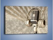 Obraz na płótnie – Głos w srebrnym mikrofonie – jednoczęściowy prostokątny poziomy O026