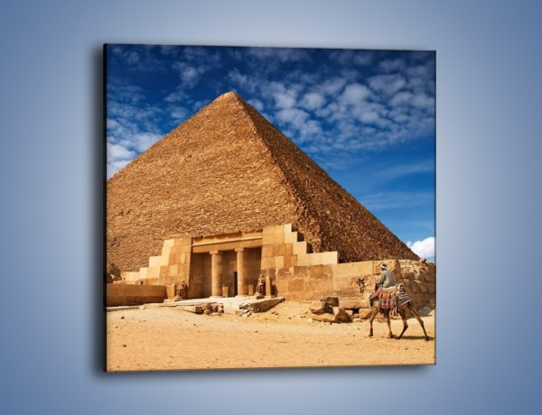 Obraz na płótnie – Wejście do egipskiej piramidy – jednoczęściowy kwadratowy AM602