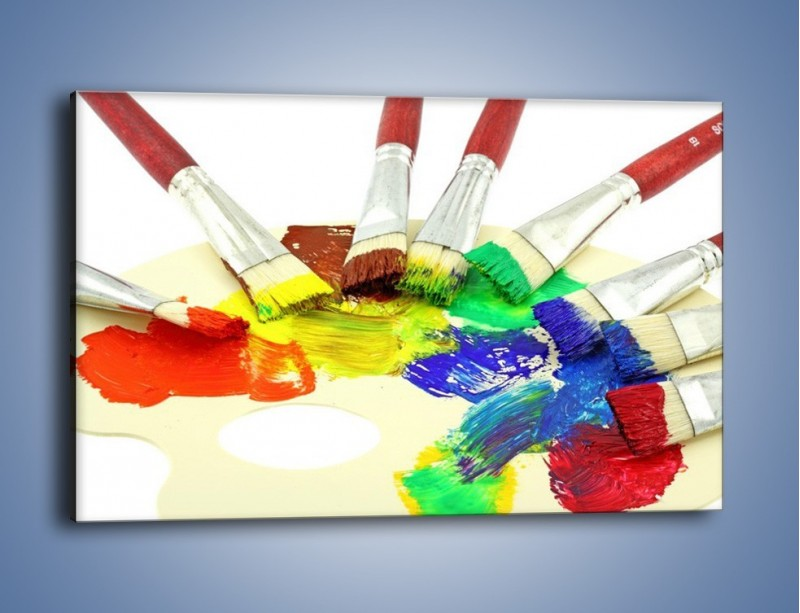 Obraz na płótnie – Kolory pędzlem malowane – jednoczęściowy prostokątny poziomy O046