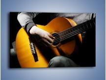 Obraz na płótnie – Chłopiec z gitarą – jednoczęściowy prostokątny poziomy O109