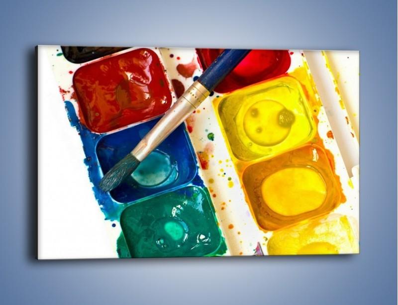 Obraz na płótnie – Kolorowy świat malowany farbami – jednoczęściowy prostokątny poziomy O116