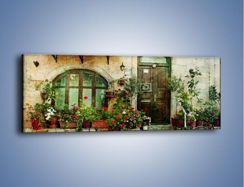 Obraz na płótnie – Domek w starej części miasta – jednoczęściowy panoramiczny AM193
