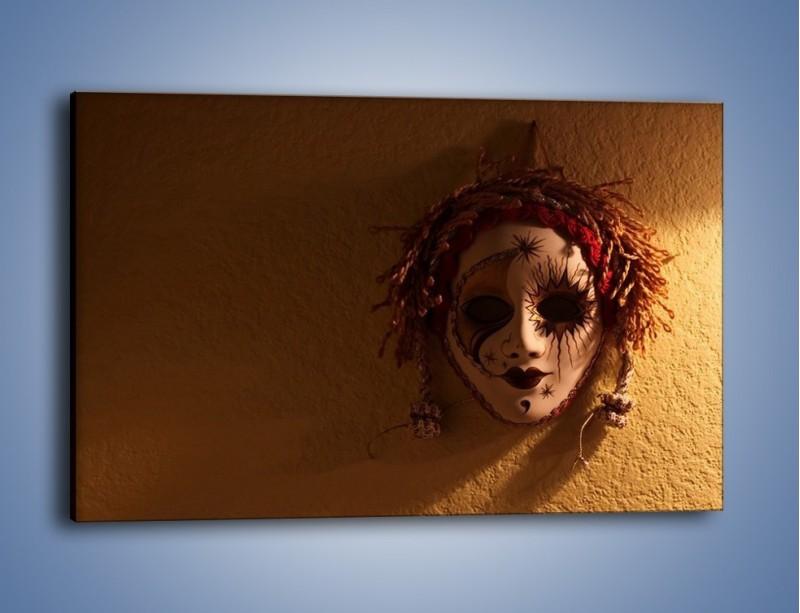 Obraz na płótnie – Maska ze znaczącymi szczegółami – jednoczęściowy prostokątny poziomy O161