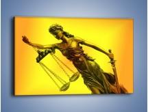 Obraz na płótnie – Figurka ważna w świecie prawa – jednoczęściowy prostokątny poziomy O164