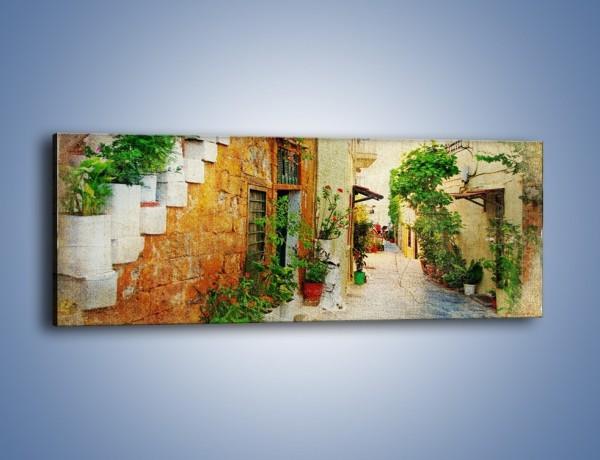 Obraz na płótnie – Urokliwa uliczka w stylu vintage – jednoczęściowy panoramiczny AM194