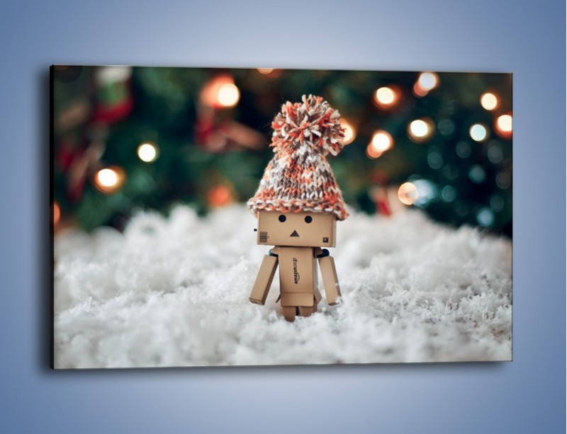 Obraz na płótnie – Mały ludek zimową porą – jednoczęściowy prostokątny poziomy O166