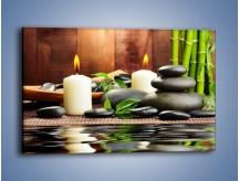 Obraz na płótnie – Masaż przy świecach – jednoczęściowy prostokątny poziomy O176