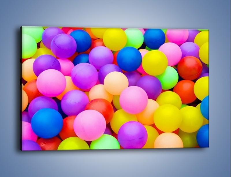 Obraz na płótnie – Basen z kolorowymi piłeczkami – jednoczęściowy prostokątny poziomy O208