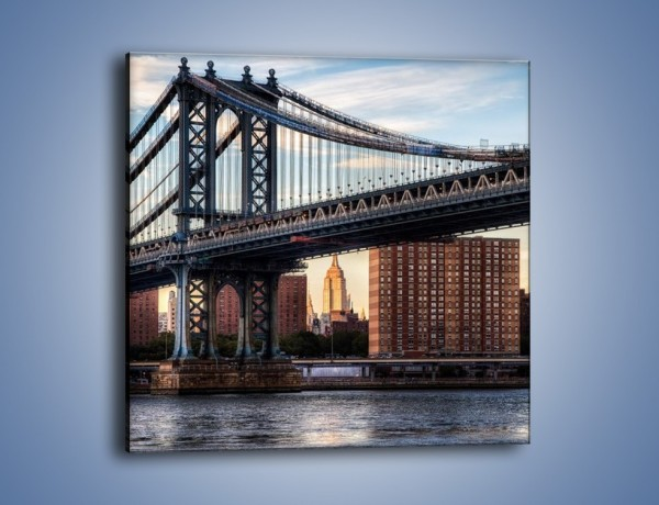 Obraz na płótnie – Manhattan Bridge – jednoczęściowy kwadratowy AM607