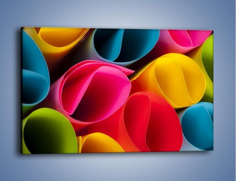 Obraz na płótnie – Kolorowe rulony – jednoczęściowy prostokątny poziomy O217