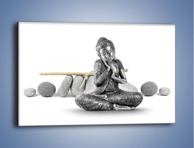 Obraz na płótnie – Budda wśród szarości – jednoczęściowy prostokątny poziomy O220