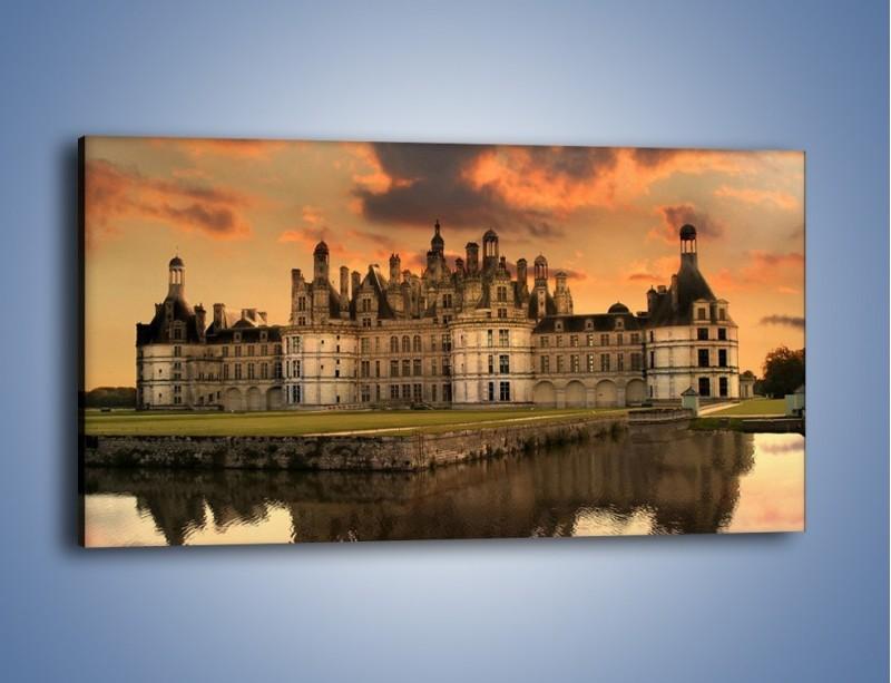 Obraz na płótnie – Stary zamek – jednoczęściowy panoramiczny AM200