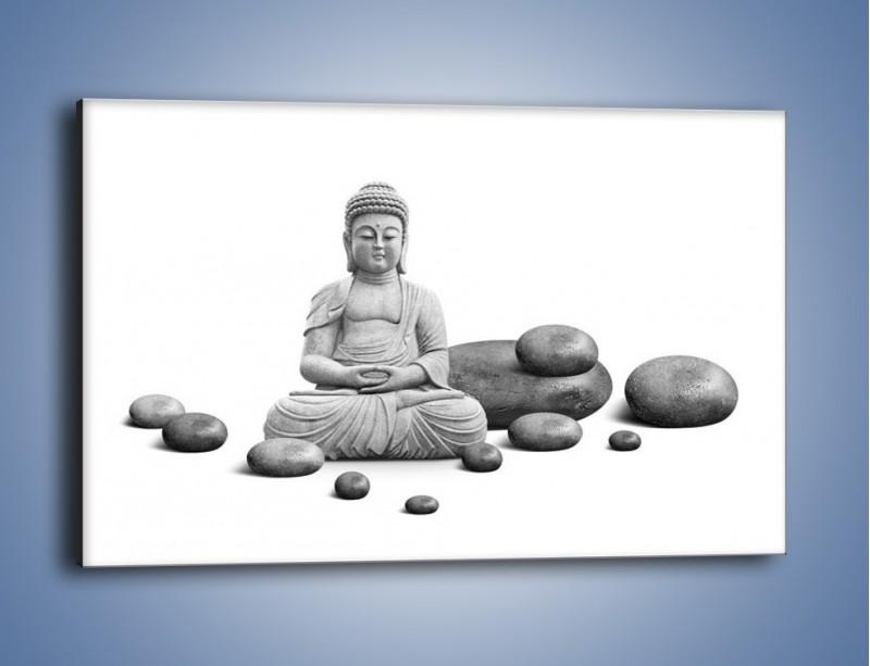 Obraz na płótnie – Budda wśród kamieni – jednoczęściowy prostokątny poziomy O229