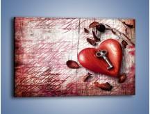 Obraz na płótnie – Klucz do serca – jednoczęściowy prostokątny poziomy O246
