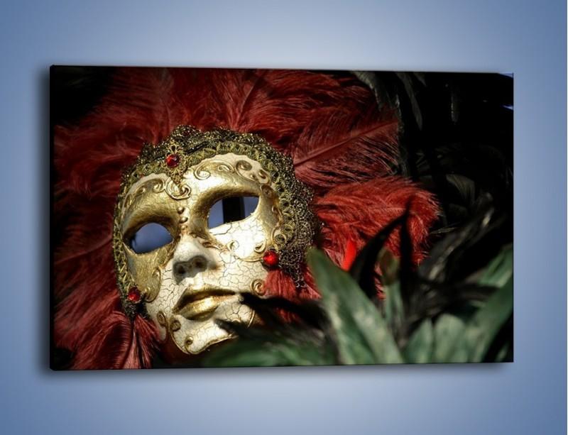 Obraz na płótnie – Maska pełna tajemnicy – jednoczęściowy prostokątny poziomy O252