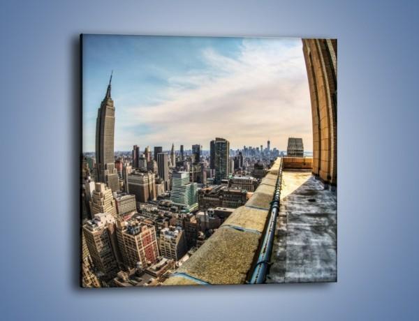 Obraz na płótnie – Empire State Building na Manhattanie – jednoczęściowy kwadratowy AM610