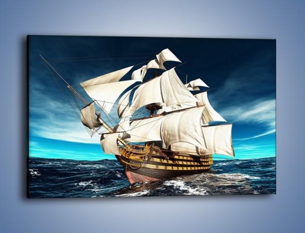 Wybitny Obraz na płótnie – Statek na morzu – jednoczęściowy prostokątny EZ25