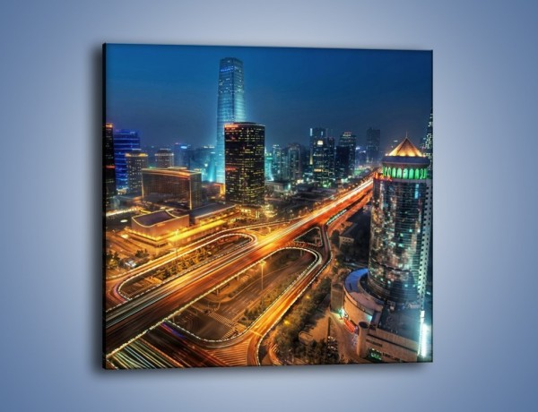 Obraz na płótnie – Noc nad Pekinem – jednoczęściowy kwadratowy AM611