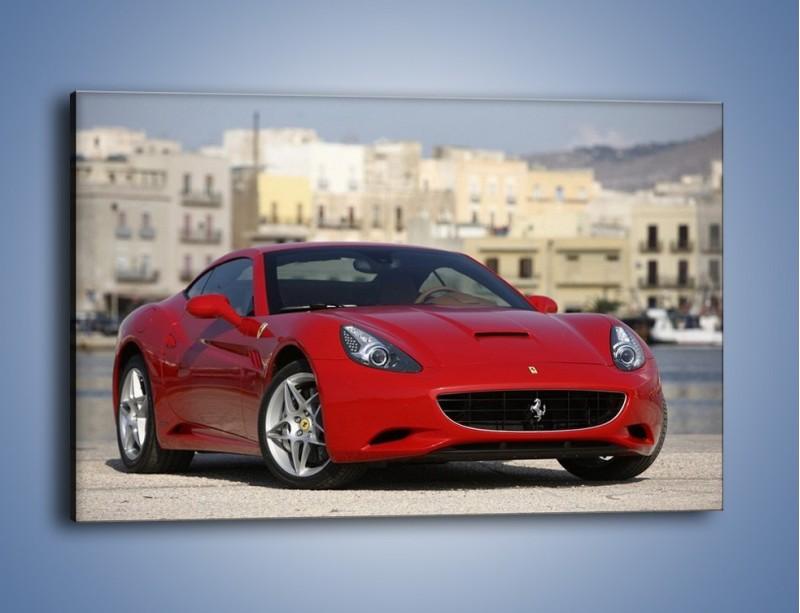 Obraz na płótnie – Czerwone Ferrari California – jednoczęściowy prostokątny poziomy TM057