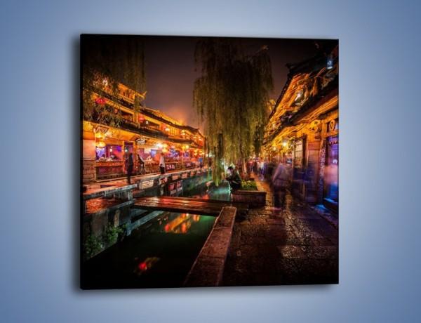 Obraz na płótnie – Uliczka handlowa Lijiang w Chinach – jednoczęściowy kwadratowy AM612