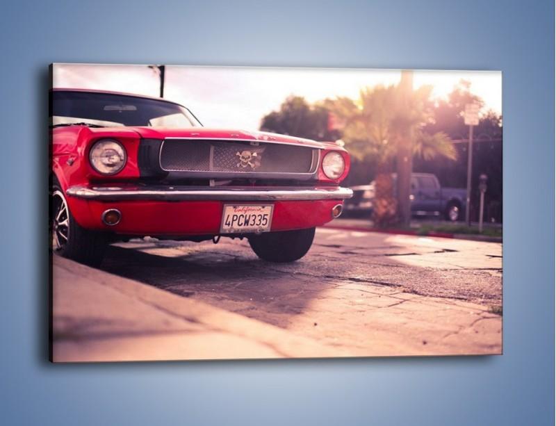 Obraz na płótnie – Czerwony Ford Mustang – jednoczęściowy prostokątny poziomy TM087