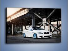 Obraz na płótnie – BMW E92 M3 Coupe pod starym mostem – jednoczęściowy prostokątny poziomy TM088