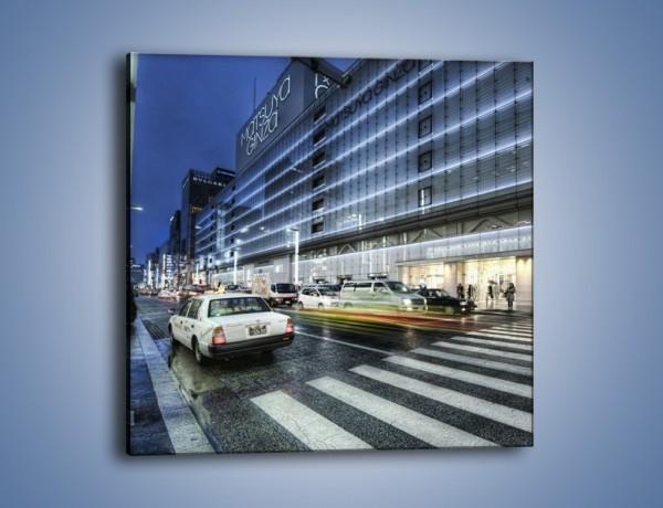 Obraz na płótnie – Ulica Tokyo w deszczu – jednoczęściowy kwadratowy AM613