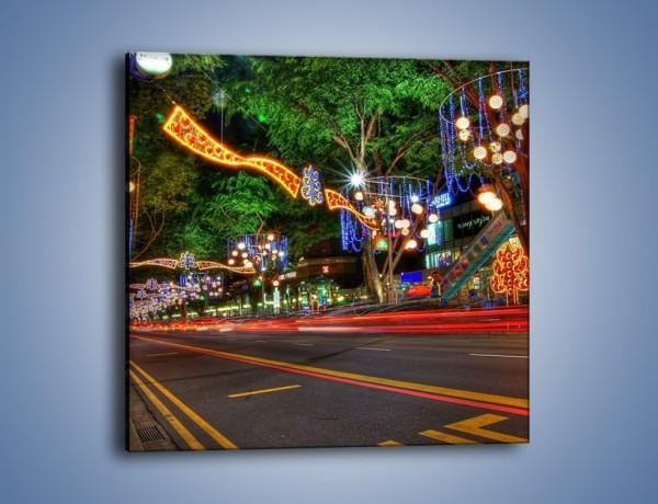 Obraz na płótnie – Noworoczne dekoracje w Singapurze – jednoczęściowy kwadratowy AM616