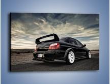 Obraz na płótnie – Czarne Subaru Impreza WRX Sti – jednoczęściowy prostokątny poziomy TM133
