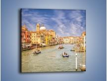 Obraz na płótnie – Canal Grande w Wenecji o poranku – jednoczęściowy kwadratowy AM617