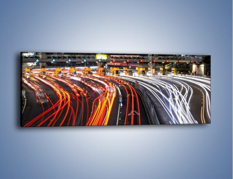 Obraz na płótnie – Autostradowa bramka w ruchu świateł – jednoczęściowy panoramiczny AM236