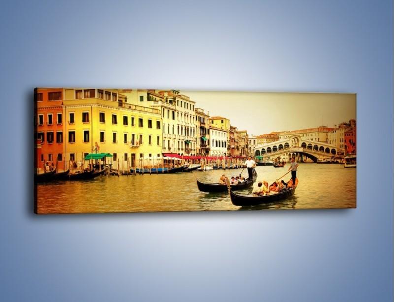 Obraz na płótnie – Wenecki rejs gondolą – jednoczęściowy panoramiczny AM240