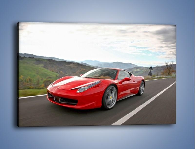 Obraz na płótnie – Czerwone Ferrari 458 Italia – jednoczęściowy prostokątny poziomy TM194