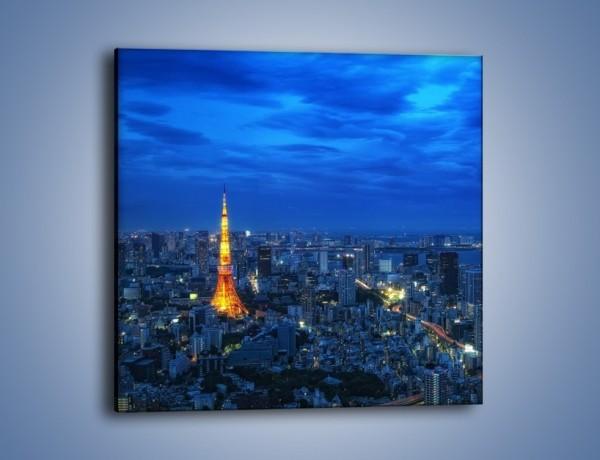 Obraz na płótnie – Tokyo Tower w Japonii – jednoczęściowy kwadratowy AM621
