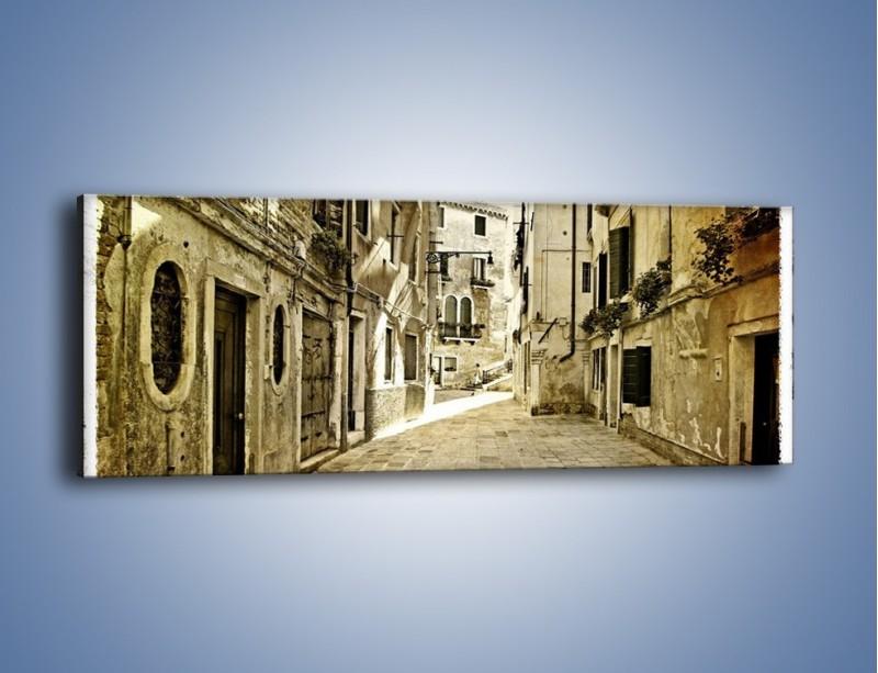 Obraz na płótnie – Stara uliczka w stylu vintage – jednoczęściowy panoramiczny AM243