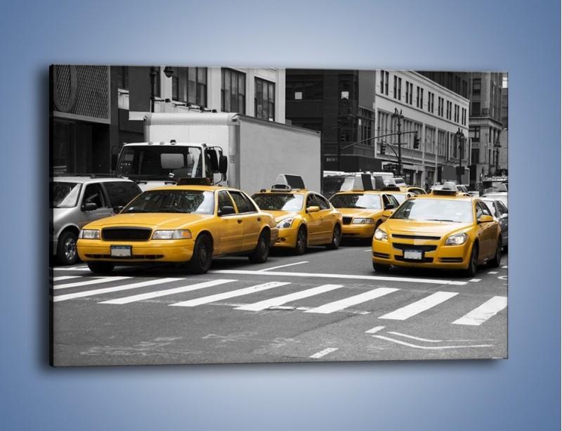 Obraz na płótnie – Amerykańskie taksówki w korku ulicznym – jednoczęściowy prostokątny poziomy TM219