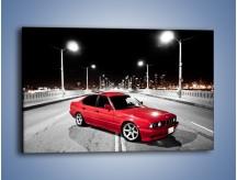 Obraz na płótnie – BMW 5 E34 na moście – jednoczęściowy prostokątny poziomy TM227