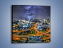 Obraz na płótnie – Burza nad Bangkokiem – jednoczęściowy kwadratowy AM622