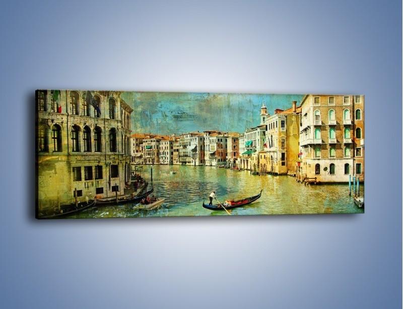 Obraz na płótnie – Weneckie lato w stylu vintage – jednoczęściowy panoramiczny AM245