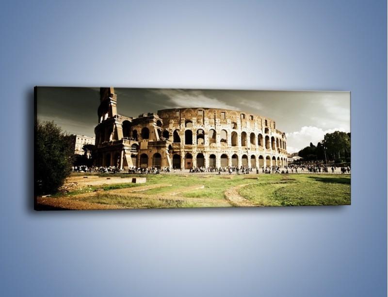 Obraz na płótnie – Koloseum przed burzą – jednoczęściowy panoramiczny AM271