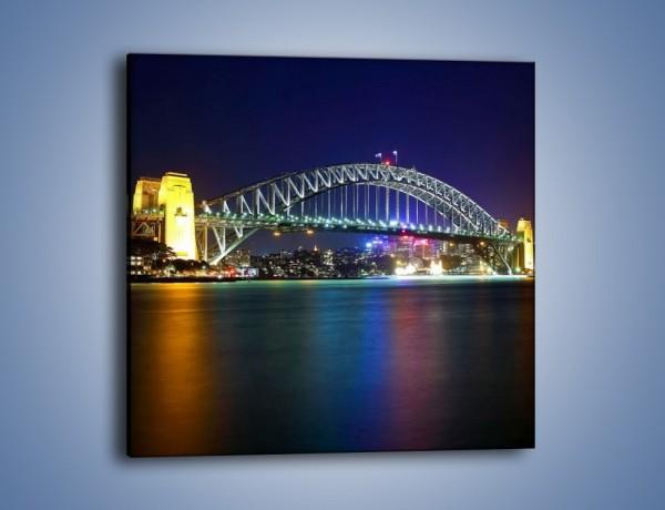 Obraz na płótnie – Sydney Harbour Bridge – jednoczęściowy kwadratowy AM629