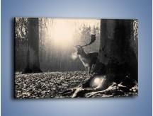 Obraz na płótnie – Jeleń w sepii – jednoczęściowy prostokątny poziomy Z250