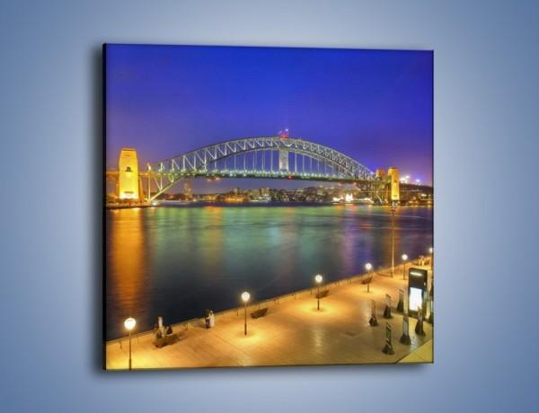Obraz na płótnie – Most nad zatoką Port Jackson w Sydney – jednoczęściowy kwadratowy AM631