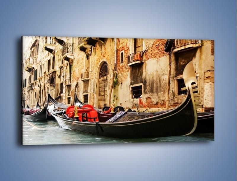 Obraz na płótnie – Wenecka gondola – jednoczęściowy panoramiczny AM286