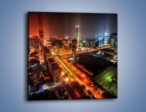 Obraz na płótnie – Niesamowite kolory Pekinu – jednoczęściowy kwadratowy AM632