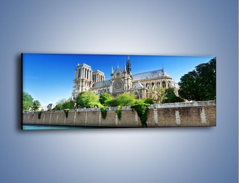Obraz na płótnie – Katedra Notre-Dame – jednoczęściowy panoramiczny AM305